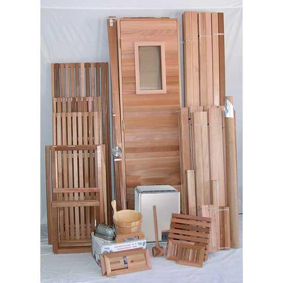 6 39 x10 39 sauna kit diy precut heater package. Black Bedroom Furniture Sets. Home Design Ideas