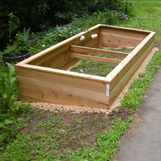 Cedar Raised Bed Garden Kits 3 X8