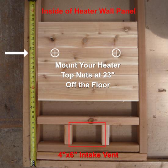"""Mount Heater 26"""" Off Floor"""