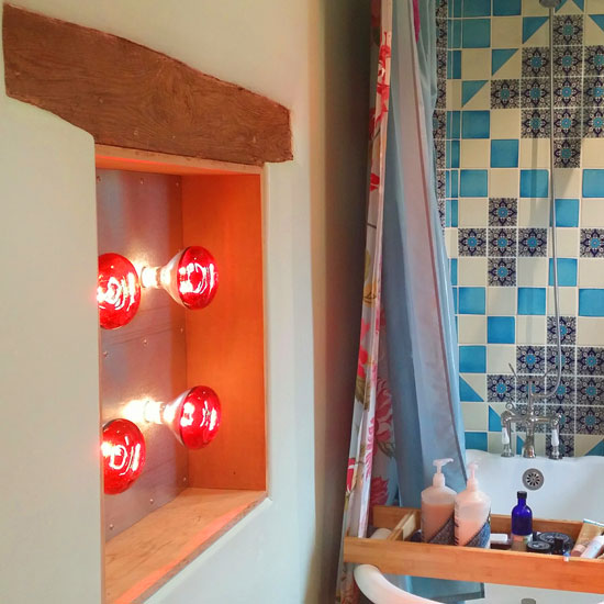 Infrared sauna light box vertical emits near middle and far infrared cats love the infrared light infrared light box in bathroom aloadofball Images