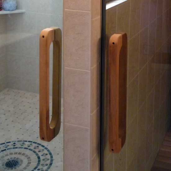 Sauna Steamroom Back To Back Wooden Door Handles