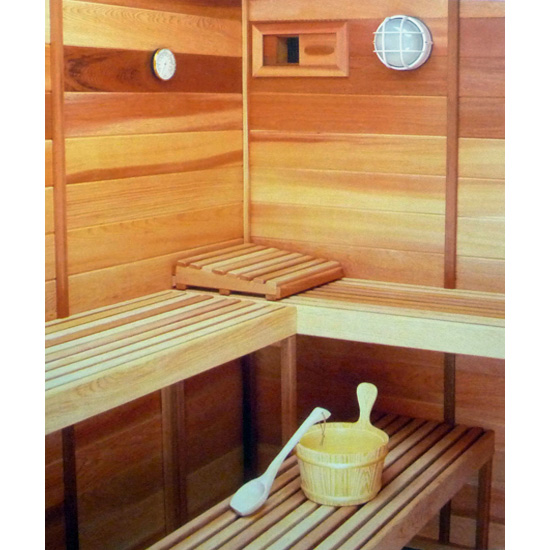 Sauna Thermometer Hygrometer Wood Mount Made In Finland