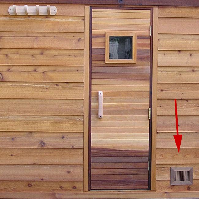 Sauna Vent Grill 4x6