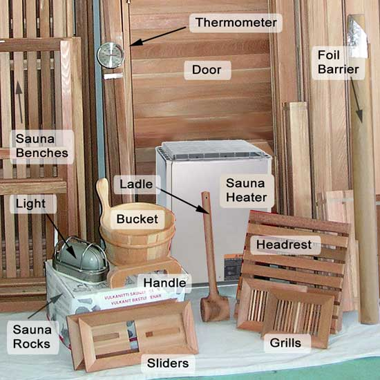6 39 x10 39 sauna kit diy precut heater package. Black Bedroom Furniture Sets. Home Design Ideas