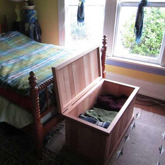 Single Storage Bench Cedar Chest Cedar Storage Boxes