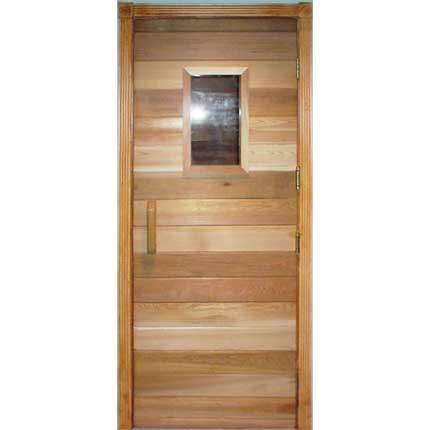 """Residential Sauna Door + 10""""x18"""" Window (32""""x82""""RO)"""