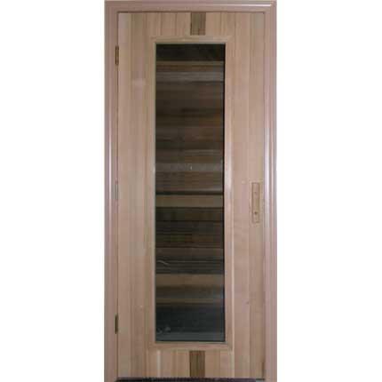 """Residential Sauna Door 32"""" x 82"""" + 16"""" x 67"""" Window"""