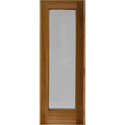 "Residential Sauna Door + 16"" x 67"" Clear Glass"