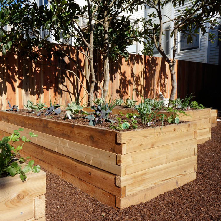 3'x7' Cedar Raised Garden Bed Kit