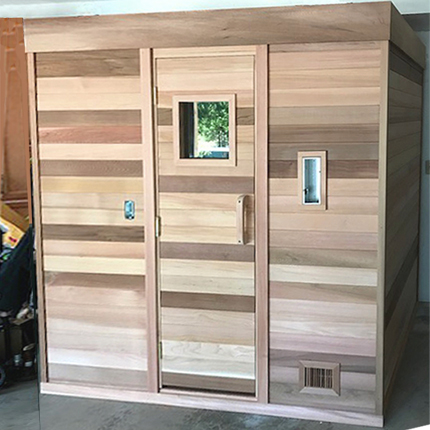 4'x6' Freestanding Pre-Fab Sauna Kit + Heater + Accessories