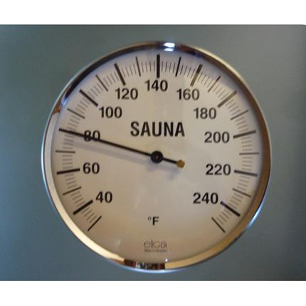 """5"""" Chrome Sauna Thermometer"""