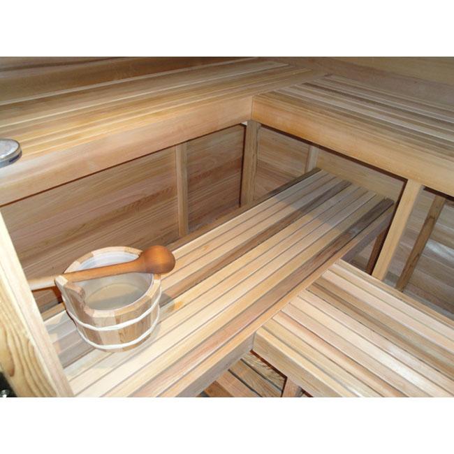 5'x8' Freestanding Pre-fab Sauna Kit + Heater + Accessories