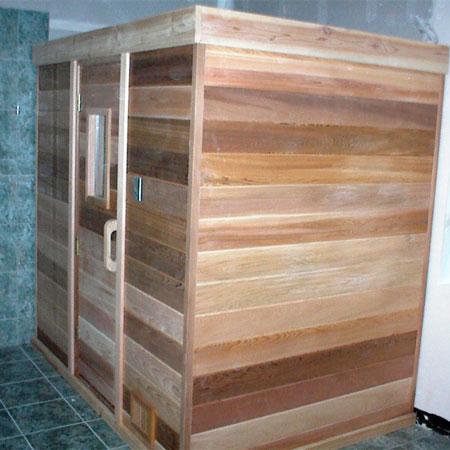 5'x6' Freestanding Pre-fab Sauna Kit + Heater + Accessories