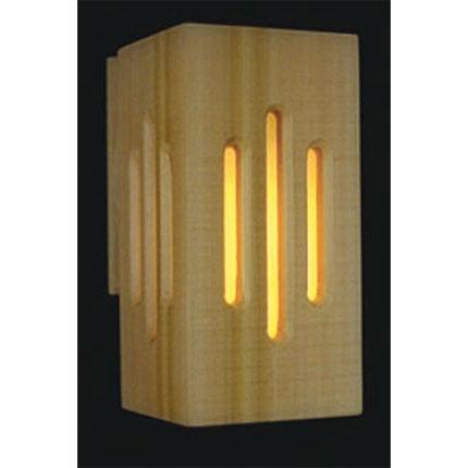 Sauna One Piece Cedar Wall Light