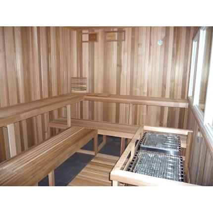 11'x11' Sauna Kit | DIY Pre-Cut + Heater Package