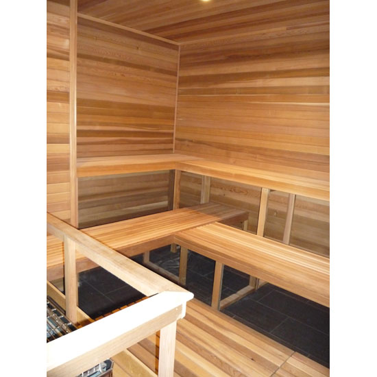 9'x10' or 7'x12' Sauna Kit | DIY Precut + Heater Package