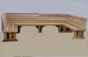 Cedar steam room benches