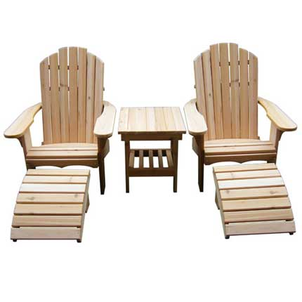 Classic Cedar Adirondack Furniture Set