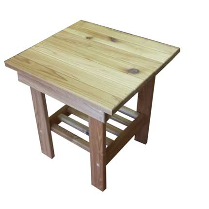 Cedar Adirondack Side Table
