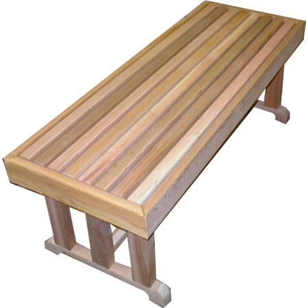 """18"""" x 72"""" Cedar Pedestal Bench"""