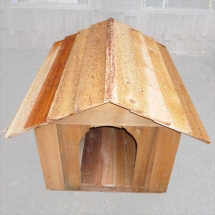 Large Cedar Doghouse Kit