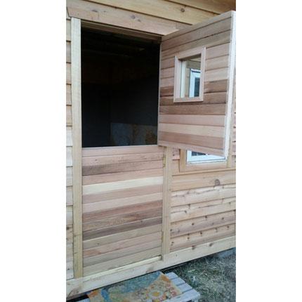 """Dutch Cedar Shed Door + 13""""x13"""" Window"""