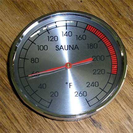 """4"""" Chrome Sauna Thermometer"""