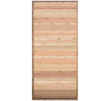 Commercial Sauna Door + Solid Tight Knot Cedar