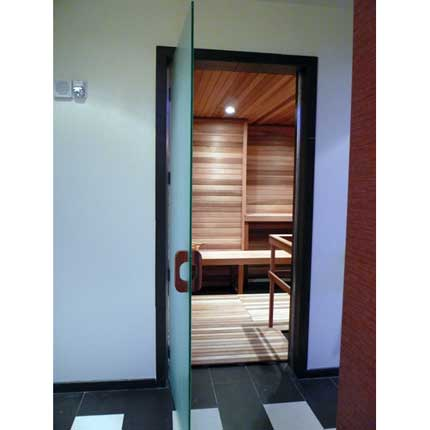 Commercial Glass Sauna Door
