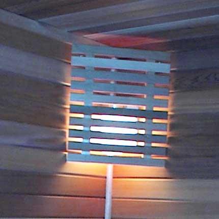 Sauna Lampshade, Wood Corner