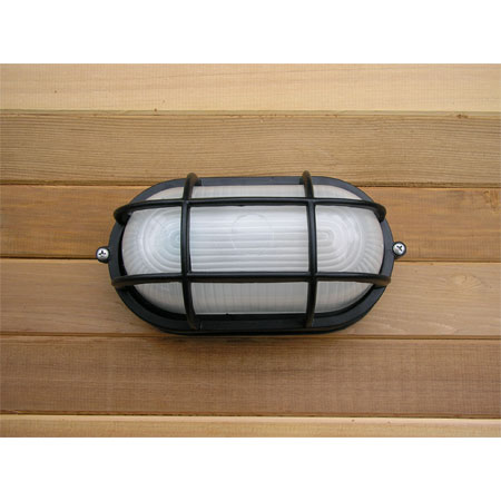 Sauna Flush Mount Marine Style Light - Black