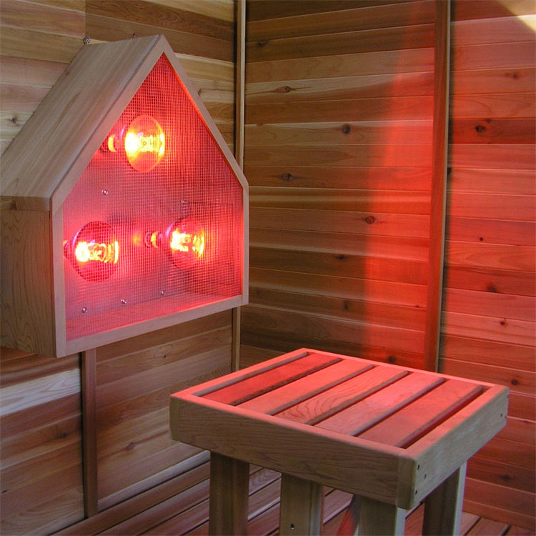 4' x 4' Infrared Pre-Fab Sauna + Near Infrared Light