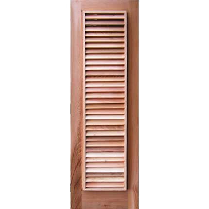 Louvered Cedar Sauna Window Cover