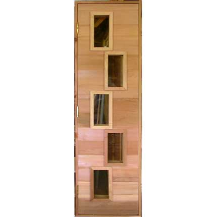 Multiple Window Sauna Door