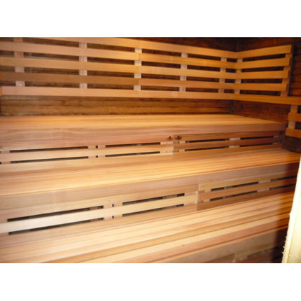 "Commercial 2""x2"" Sauna Benches 4 Ft"