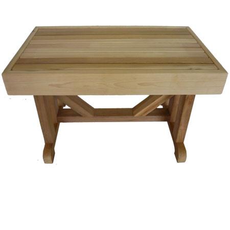 """18"""" x 24"""" Cedar Pedestal Bench"""