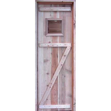 Solid Core Vertical 2x6 Z Style Sauna Door