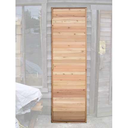 Short Residential Sauna Door + Solid Tight Knot T&G