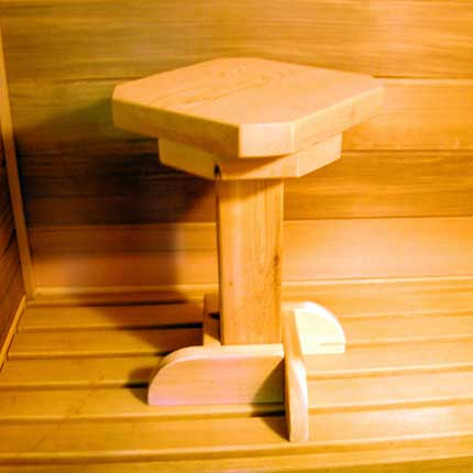 Rotating Cedar Sauna Stool