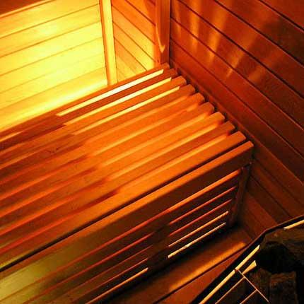 Sauna Bench Facing
