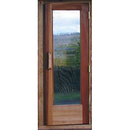 "Short Residential Sauna Door + 16"" x  55"" Window"