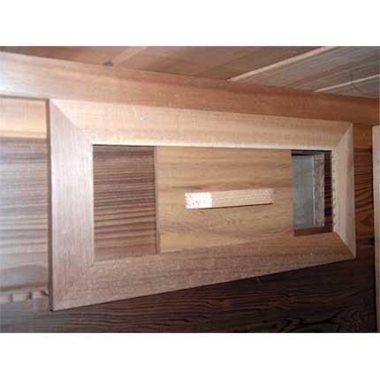 "Sauna Vent Slider Cedar 6""x8"""