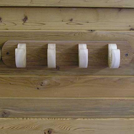 Sauna Towel Hook, 4 Hooks, cedar