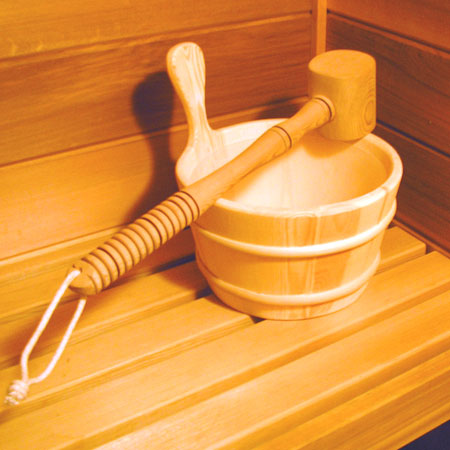 Spruce Wood Sauna Bucket One Gallon