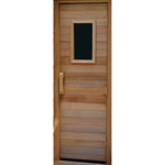 "Residential Sauna Door + 10""x18"" Window"