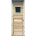 "Residential Sauna Door + 13"" x 13"" Window"