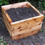 2'x2' Cedar Raised Garden Bed Kit