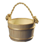 Wood Sauna Bucket 1 Gallon