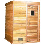 4'x4' Freestanding Pre-fab Sauna Kit + Heater + Accessories