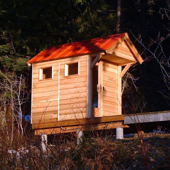 4'x5' Outdoor Pre-Fab Sauna Kit + Heater + Accessories